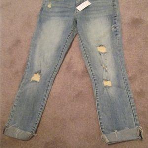 "Gilded Intent destructed jeans size 28"" waist."